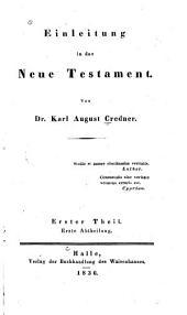 Einleitung in das Neue Testament: Band 1