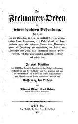 Der Freimaurer Orden in seiner wahren Bedeutung PDF