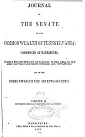 Journal of the Senate of the Commonwealth of Pennsylvania: Volume 2