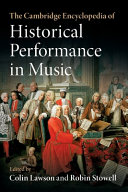 The Cambridge Encyclopedia of Historical Performance in Music PDF