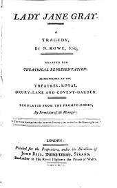 Lady Jane Gray: A Tragedy