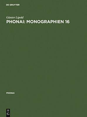 Phonai  Monographien 16 PDF