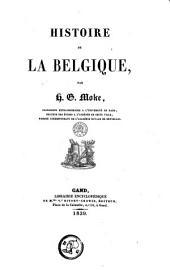 Histoire de la Belgique: Volumes1à2