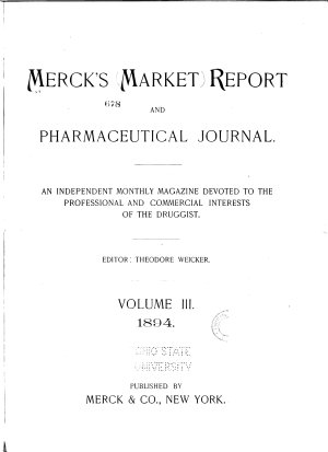Merck s Market Report and Pharmaceutical Journal PDF