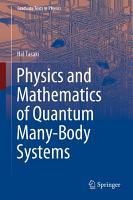 Physics and Mathematics of Quantum Many Body Systems PDF