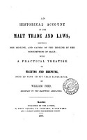 An historical account of the malt trade and laws PDF