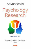Advances in Psychology Research  Volume 143 PDF