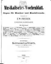 Musikalisches Wochenblatt: Organ für Musiker u. Musikfreunde, Band 4