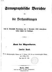 Stenographische Berichte über die Verhandlungen: Band 2