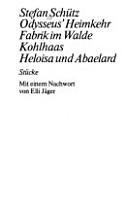 Odysseus s Heimkehr   Fabrik im Walde   Kohlhaas   Heloisa und Abaelard PDF