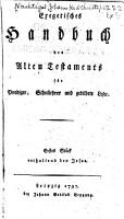 Exegetisches handbuch des Alten Testaments f  r prediger  schullehrer und gebildete leser     PDF