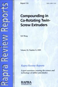 Compounding in Co Rotating Twin Screw Extruders