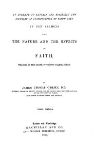 An Attempt to Explain and Establish the Doctrine of Justification by Faith Only PDF