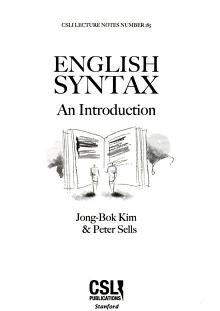 English Syntax PDF