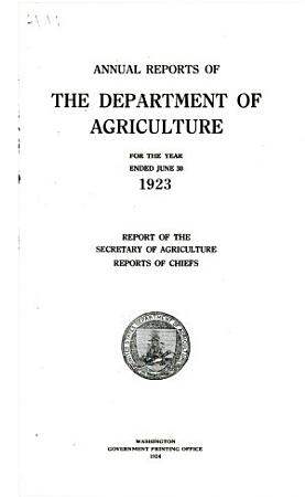 Report of the Secretary of Agriculture PDF