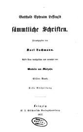 Gotthold Ephraim Lessing's sämmtliche Schriften: Band 11,Ausgabe 1