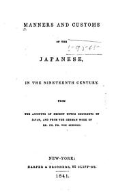 Manners and Customs of the Japanese in the Nineteenth Century