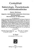 Zentralblatt f  r Bakteriologie  Parasitenkunde Infektionskrankheiten und Hygiene PDF
