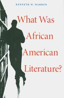 What Was African American Literature  PDF
