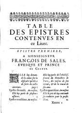 Les Epistres spirituelles de ... fidellement recueillies par les religieuses du premier monastère d'Annessy