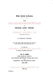 The Life and Complete Works in Prose and Verse of Robert Greene ...