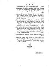 Histoire de l'Académie Royale des Inscriptions et Belles-Lettres avec les Mémoires de littérature tirés des registres de cette Académie: depuis l'année ... jusques & compris l'annee ..