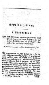Neues magazin für Prediger. Herausgegeben von D. Wilhelm Abraham Teller: Band 5