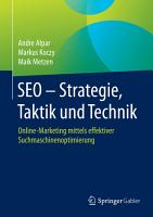 SEO   Strategie  Taktik und Technik PDF