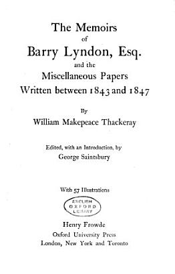 The Oxford Thackeray PDF