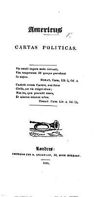 Americus  Cartas politicas   Extracted from the periodical    O Padre Amaro     Edited by Joaquim Joz   Ferreira de Freitas