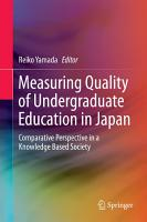 Measuring Quality of Undergraduate Education in Japan PDF