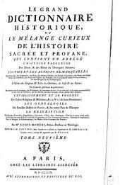 Le grand dictionnaire historique ou Le mélange curieux de l'histoire sacrée et profane [...]: Volume9