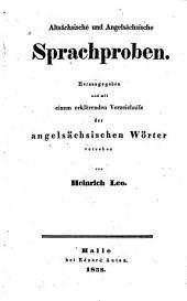 Altsächsische und angelsächsische sprachproben: Band 1