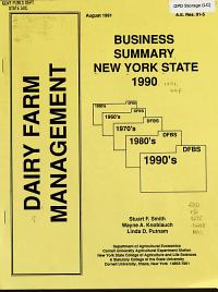Dairy Farm Management  Business Summary New York PDF