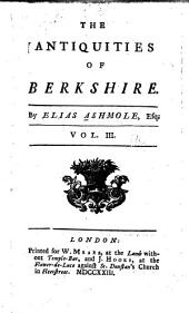 The Antiquities of Berkshire: Volume 3