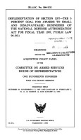 Implementation of Section 1207  the 5 Percent Goal for Awards to Small and Disadvantaged Businesses  of the National Defense Authorization Act for Fiscal Year 1987  Public Law 99 661  PDF