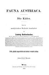 Fauna Austriaca: ¬Die Käfer : nach der analytischen Methode bearbeitet, Band 2