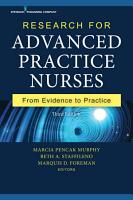 Research for Advanced Practice Nurses  Third Edition PDF