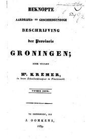 Beknopte aardrijks- en geschiedkundige beschrijving der provincie Groningen