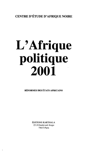 L Afrique politique
