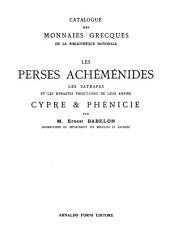 Catalogue des monnaies grecques de la Bibliotheque nationale: Introduction. Catalogue