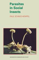 Parasites in Social Insects PDF