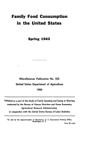 Family food consumption in the United States, spring 1942