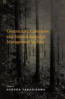 Community  Commons and Natural Resource Management in Asia PDF