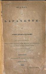 Eulogy On Lafayette Book PDF