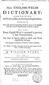 A new English-Welsh dictionary