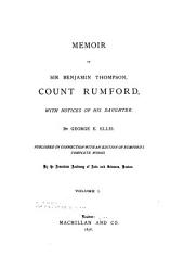 The Complete Works of Count Rumford: Volume 1
