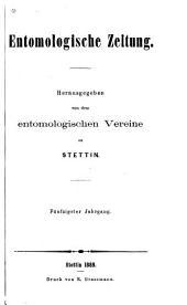 Stettiner entomologische Zeitung: Band 50