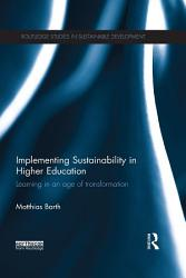 Implementing Sustainability In Higher Education Book PDF