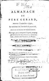 Almanach du père Gérard, pour l'année 1792...